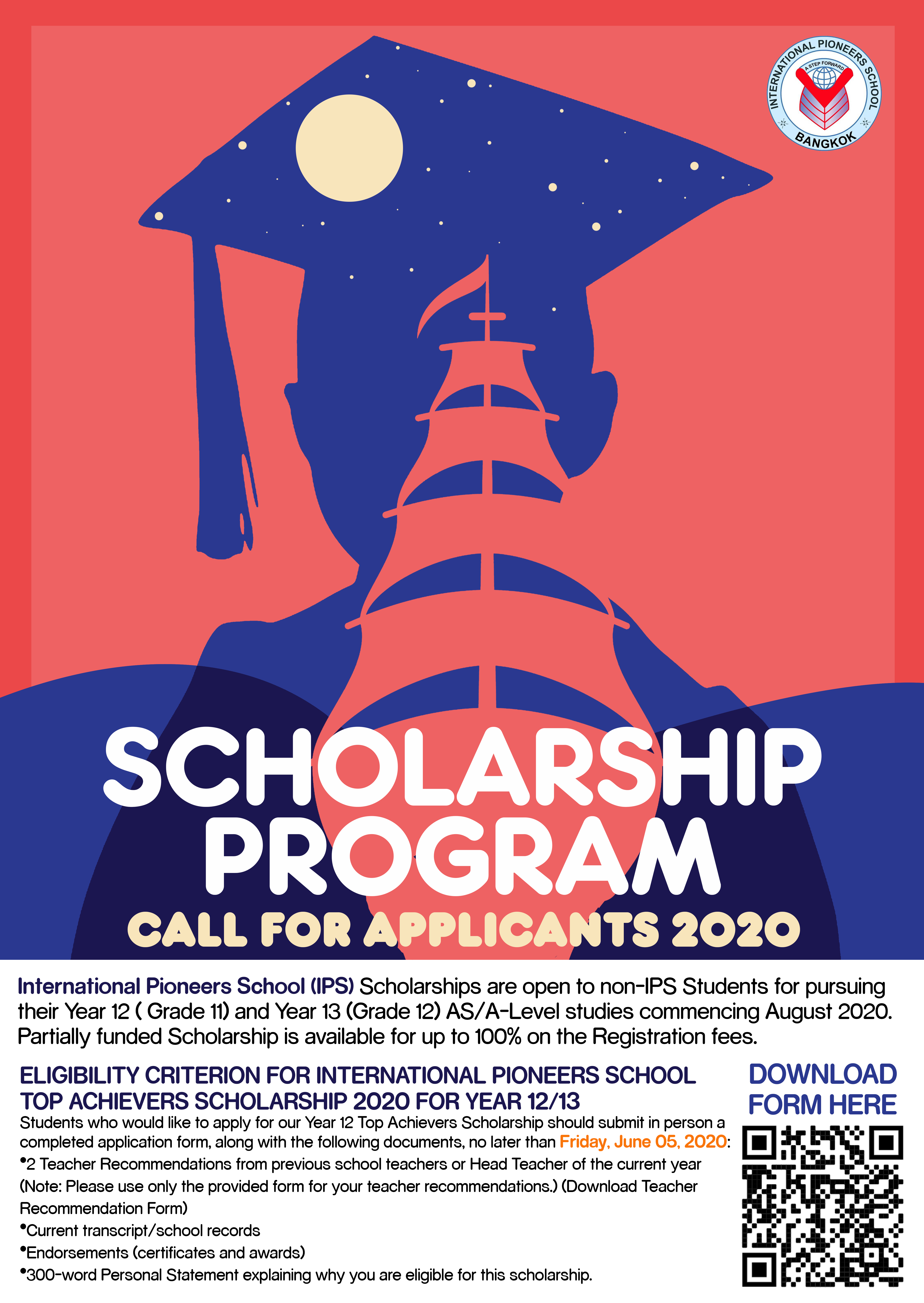High School Scholarships for  Non-IPS Students 2020